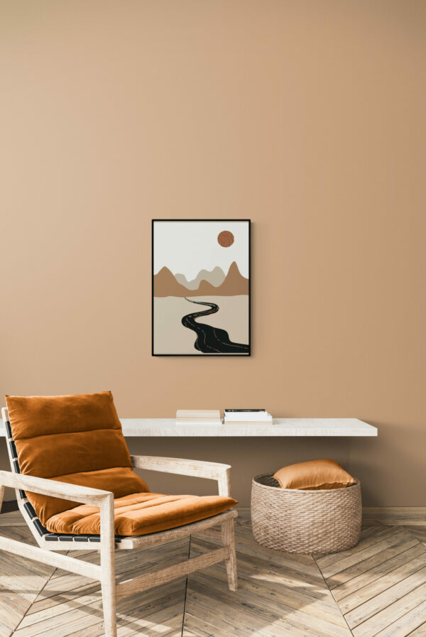abstract landscape poster - Uni Art Gallery