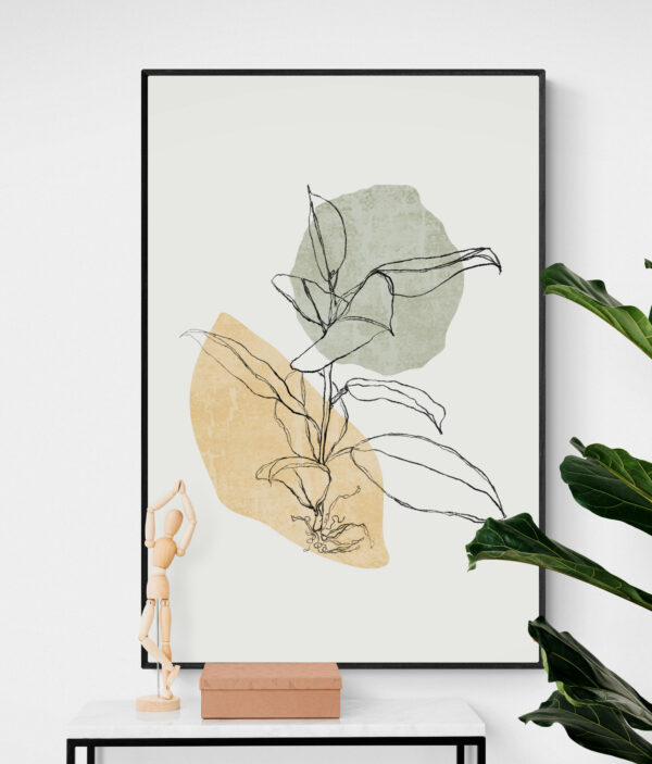 abstract wall poster