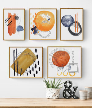 modern abstract bundle poster