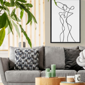 Carefree_living_space_with_Line_art_poster