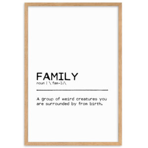 Illustration Quote Family Weird poster