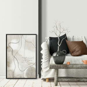 Scandinavian_interior_with_abstract_line_art_wall_poster