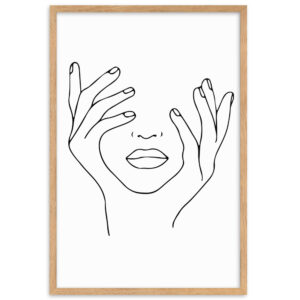 Girl Face With Hands